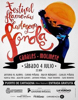 Vanessa Teba Cartel Festival Flamenco Cartagena