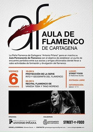 Vanessa Teba Cartel Flamenco Cartagena