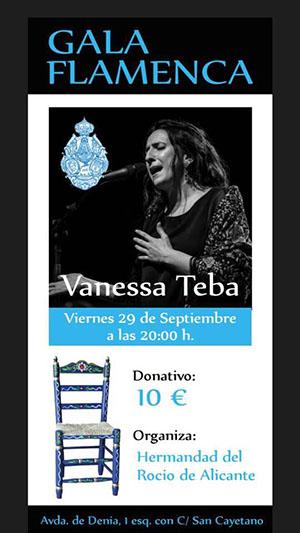 Vanessa Teba Cartel Flamenco Gala Flamenca Hermandad del Rocio de Alicante
