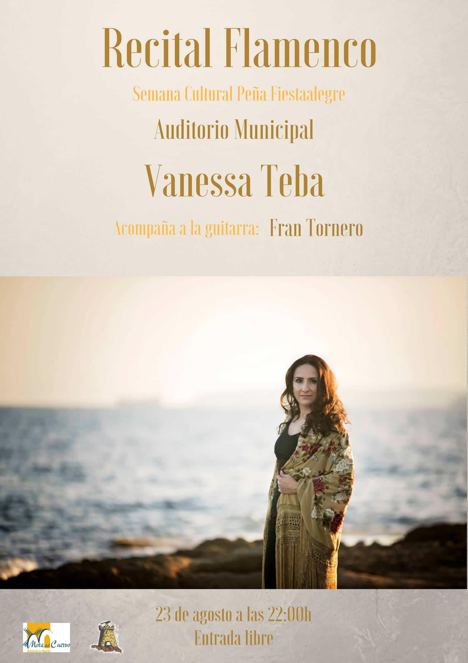 Recital Flamenco en Mota del Cuervo Vanessa Teba