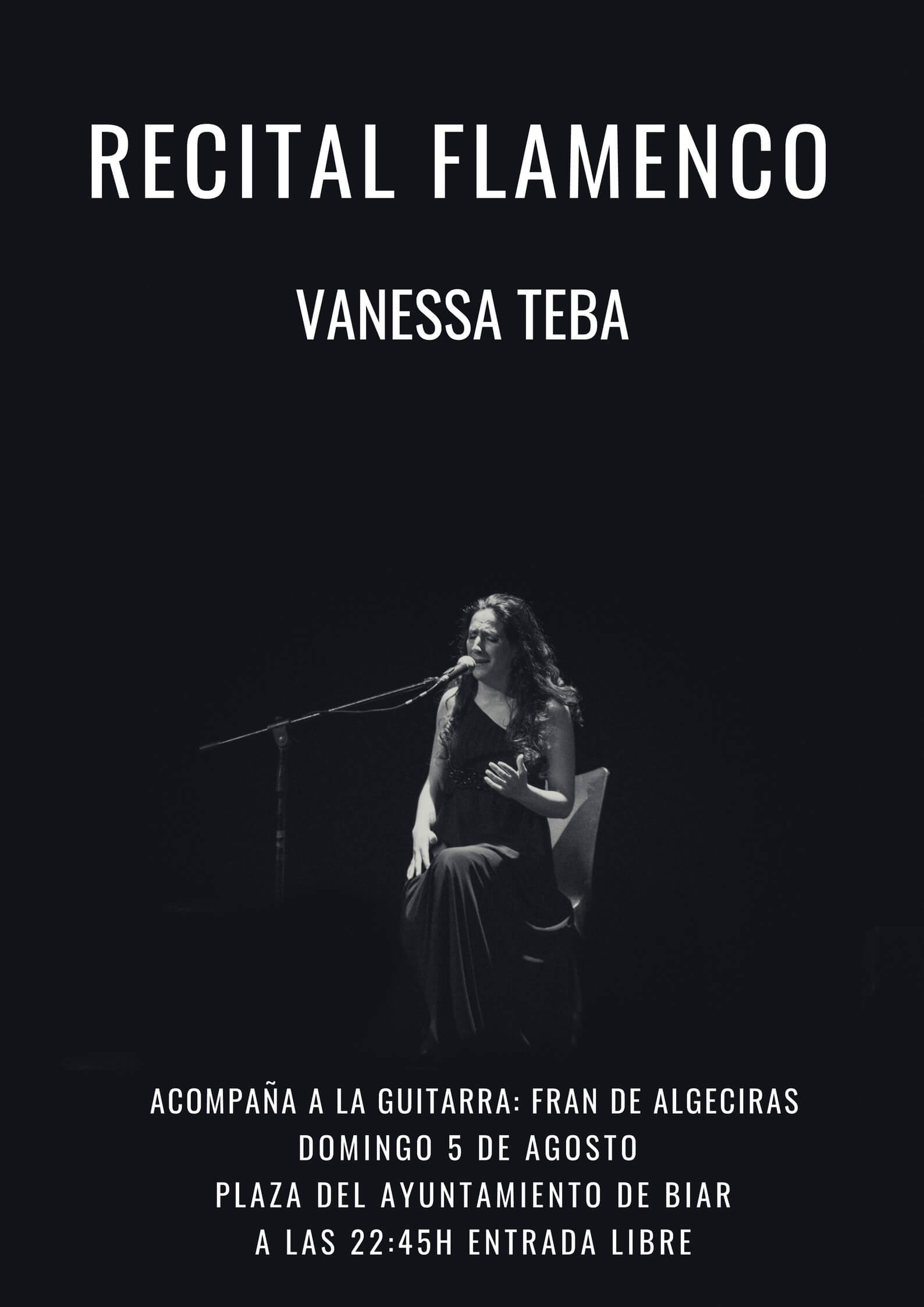 Vanessa Teba recital flamenco Biar-Alicante